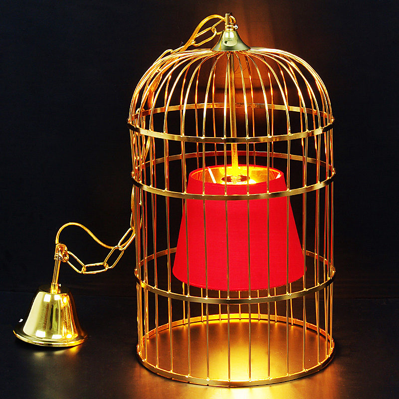 Gold silver black rust plating bird cage pendant light creative country art Iron loft birdcage Bar Art Deco Light E27 9W bulb wheat breeding for rust resistance