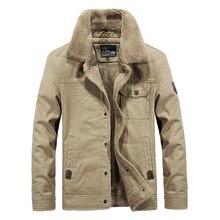 купить Fashion Winter Jackets Men Military Style Velvet Thick Casual Warm Parka Men Khaki Large Size M-6XL Outwear Big Man Cargo Coats по цене 2913.82 рублей