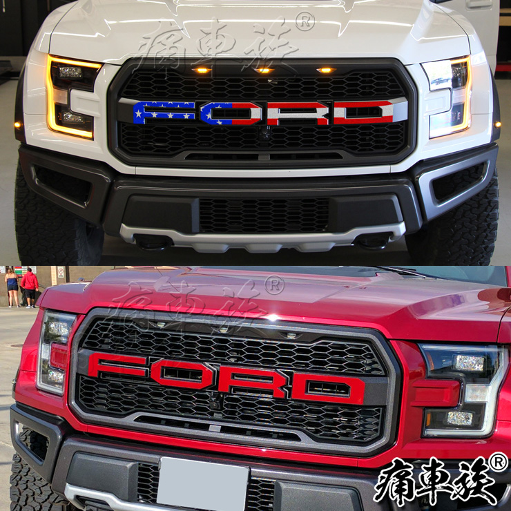 For Ford Raptor <font><b>F150</b></font> 2017 in the net word mark modified car FORD letter stickers decorative car stickers <font><b>accessories</b></font> image