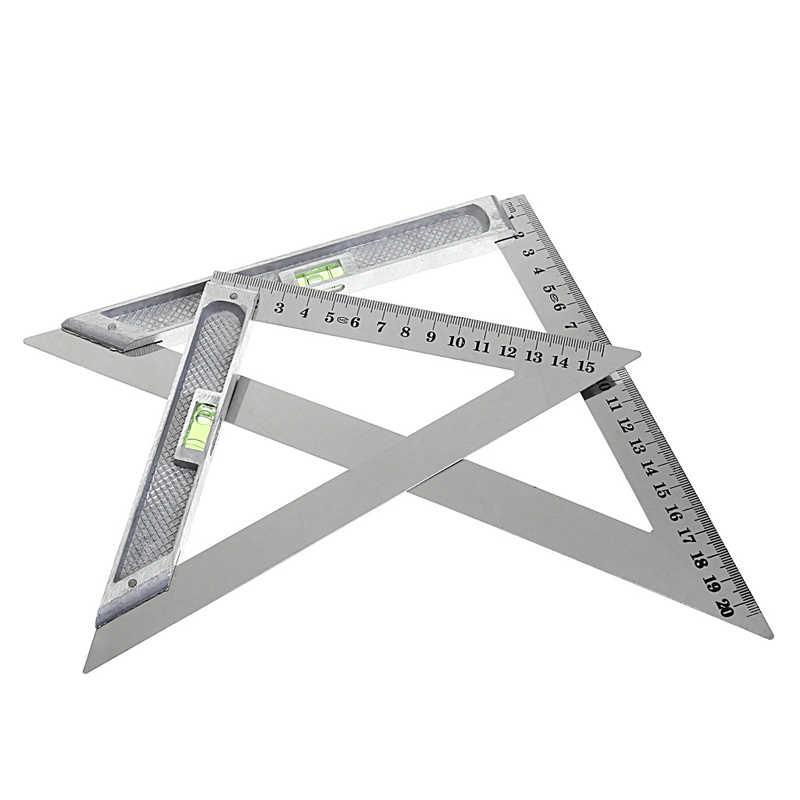 150 مللي متر مثلث حاكم 90 سبيكة مع حبة أفقي النجارة أداة قياس