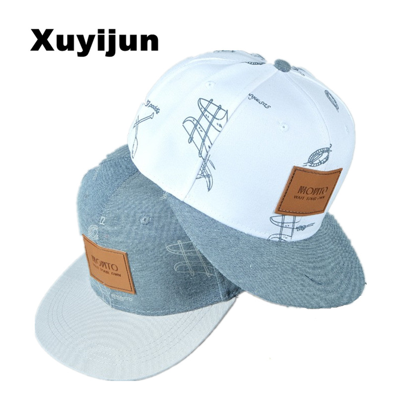 Xuyijun cotton denim hat affixed cloth letters casual fresh graffiti hip hop baseball cap snapback caps hats for woman men bone boapt unisex letter embroidery cotton women hat snapback caps men casual hip hop hats summer retro brand baseball cap female