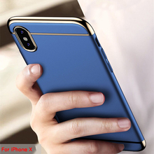 TCICPC For Iphone X case Iphone 10 cover Luxury electronic plating 3 in 1 full body protection back cover case for Apple IphoneX(China)