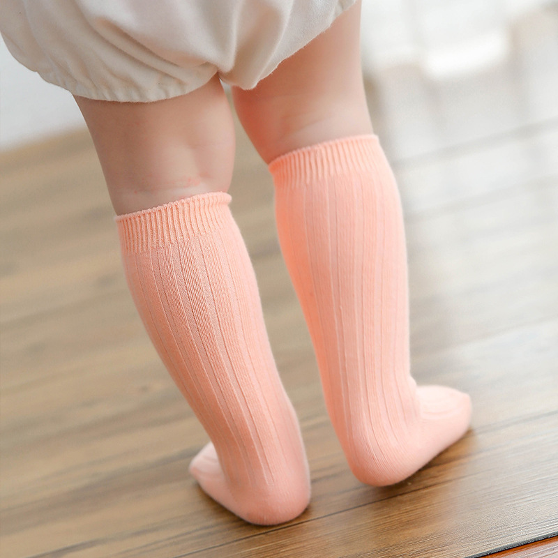 2018 Spring Hot Sale baby Knee socks made by pure cotton cute Newborn Infant baby Socks For Age 0 To 4 Years Old girls
