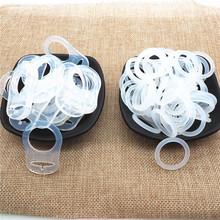 Chenkai 50 sztuk przezroczysty silikonowy Mam pierścień DIY smoczek dla niemowląt manekin NUK wyczyść Adapter O uchwyt na pierścionki łańcuch zabawki akcesoria tanie tanio Stałe Nitrosamine darmo Ftalanów Lateksu BPA za darmo 48*32*3mm Silicone 4 miesięcy CK02 Bulk