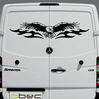 AMERICAN EAGLE FULL WING Graphics Camper Van Boat RV Motor Home Truck Window Vinyl Graphics Kit