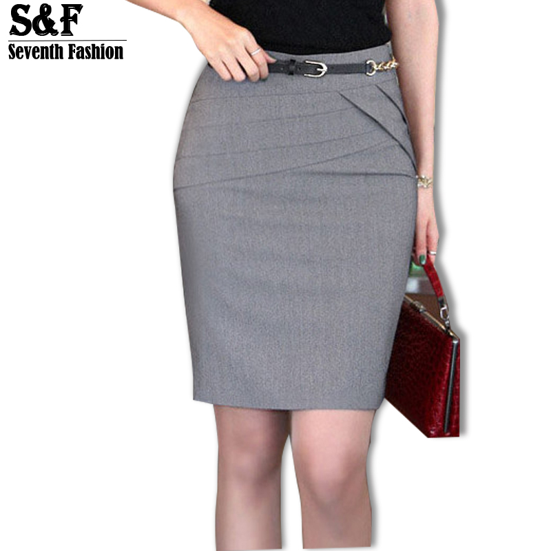 2016 Autumn Winter Women Skirts Office Formal Pencil Skirts Casual ...