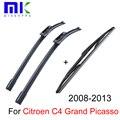 Delantera y trasera limpiaparabrisas para Citroen C4 Picasso en 2008, 2009, 2010, 2011, 2012, 2013 parabrisas limpiaparabrisas Coche accesorios