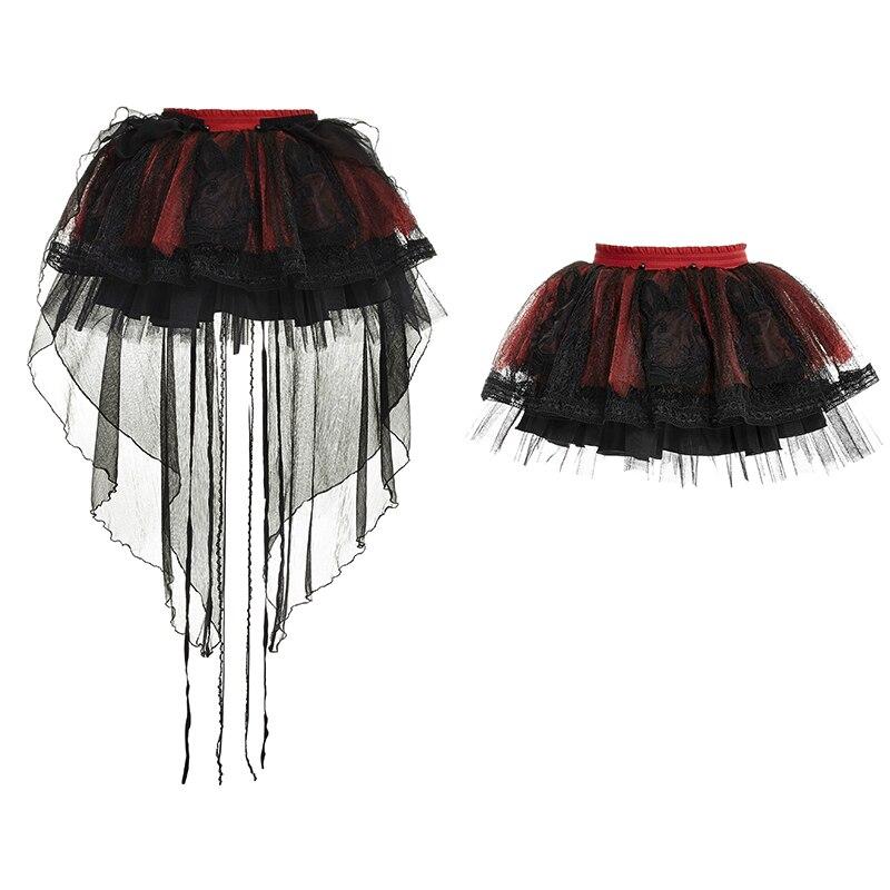 Dos Estudiante Black Banda Mujeres Rojo Corta De Conejo Fiesta Negro 2018 Red Malla Falda Empalme And Punk Elástica Lolita IaqSfwfZ