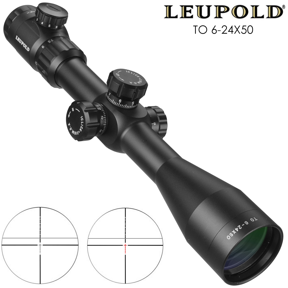 Leupold PARA 6-24x50 Riflescope Tactical Optical Rifle Scope Rifle Scope Airsoft Rifle Sniper Caça Tactique