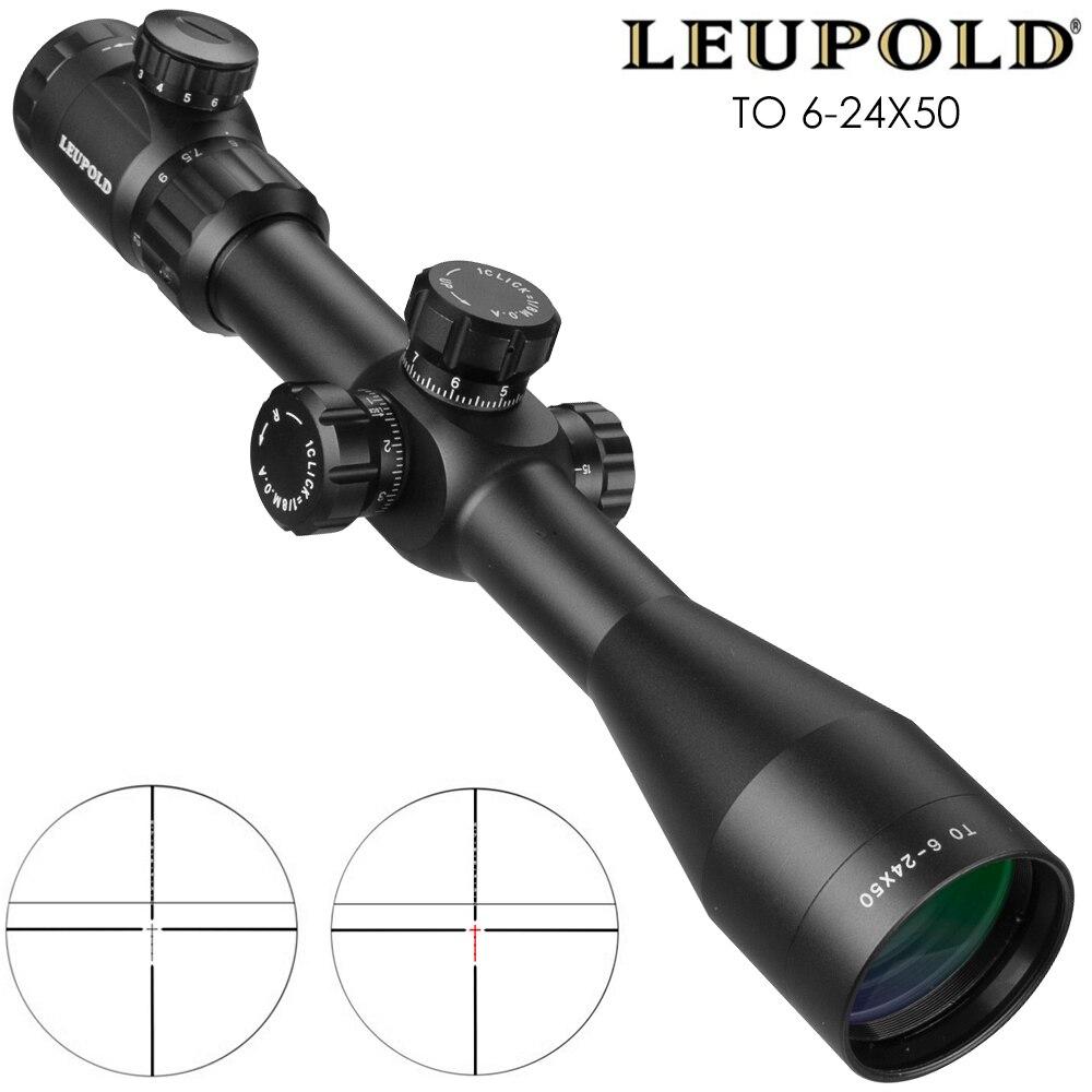 Leupold PARA 6-24x50 Riflescope Tactical Optical Rifle Scope Rifle Scope Airsoft Rifle Sniper Caça Tactique