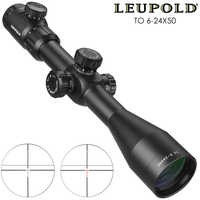 Leupold TO 6-24x50  Riflescope Tactical Optical Rifle Scope Sniper Hunting Tactique Rifle Scope Airsoft Rifle