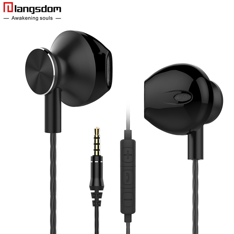 Langsdom R9C In-Ear Earphone for Phone Stereo Hifi Earphones with Microphone Headset for Phone fone de ouvido Earbuds Airpods new langsdom phone earphones with microphone dual driver in ear earphone headset for phone earbuds fone de ouvido mp3 xiaomi