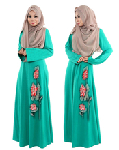 Fashion embroidery Kaftan vintage Islamic Jilbab Maxi Muslim women dress skirt ethnic costumes Middle East Dubai robe new