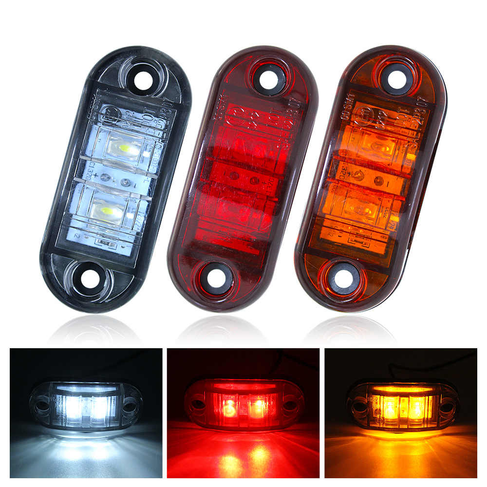 1pcs 12V 24V LED Car Side Marker Light Tail Brake Bulb Signal Lamp for Truck Trailer Lorry Turn Indicator Light Warning Lamp