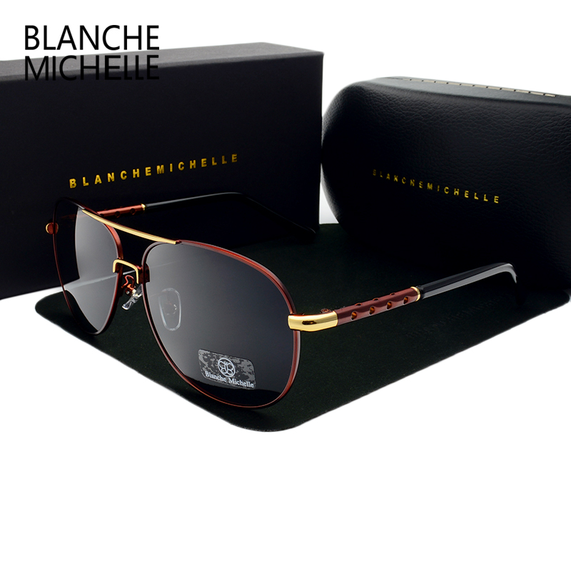 Blanche New Hot High Quality brand designer Polarized Sun Glasses Driving Sport Male Fashion Oculos men