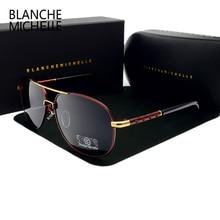 Blanche new heiße hohe qualität marke designer polarisierte sonnenbrille fahren sport männlichen mode oculos männer sonnenbrille mit box