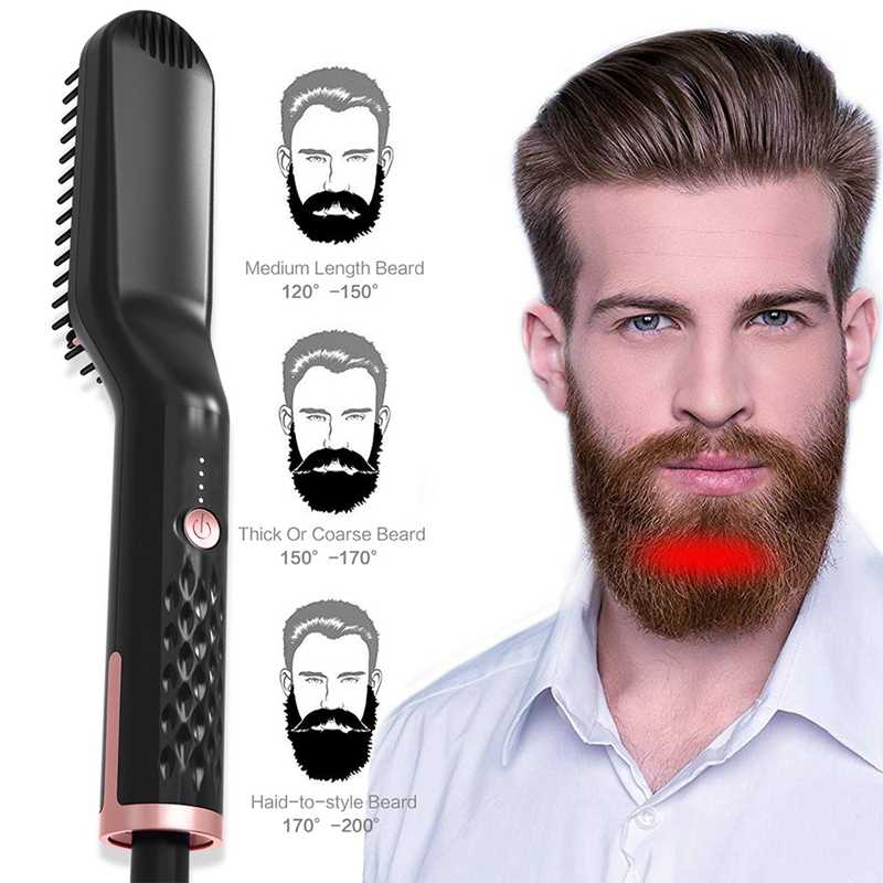 2019 fast multifunctional electric brush for Beard, comb for men and women, hair straightening brush, electric curling iron for men, brush for beard grooming
