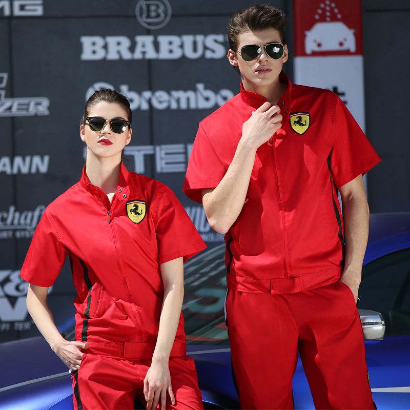 Summer Auto Repairing Clothes Short Sleeve Top Overalls Car Beauty Auto Repair Clothing Breathable Wearable Antifouling