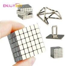 Enjoybay 216 шт. Магнитный магический куб игрушки Мини магнитные шарики головоломка металлические бусины DIY сборка Magcube Обучающие Дети Взрослые игрушки