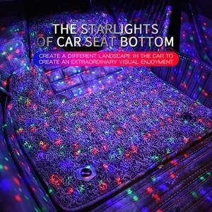 Image 5 - Tak Wai Lee 4 قطعة USB LED مقعد السيارة أسفل الغلاف الجوي النجوم شريط إضاءة بألوان أحمر وأخضر وأزرق التصميم بريتينغ صوت بعيد CTRL مصباح داخلي