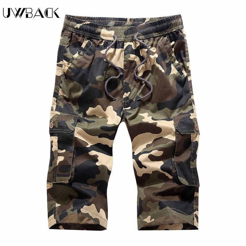 Лилл | Для мужчин Рубашки домашние нескольких карман камуфляж грузовые шорты человек до колена Длина военные Бермуды Армии шорты плюс Размеры 4XL XAA004