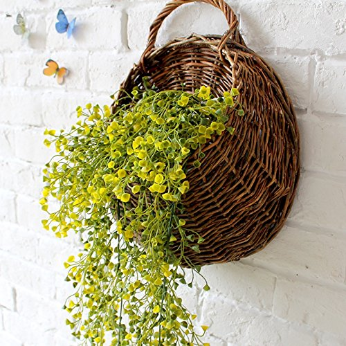 Mkono Artificial Flower Vine Silk Plant With Hanging Basket For Home Garden Wedding Wall Decoration In Dried Flowers From On
