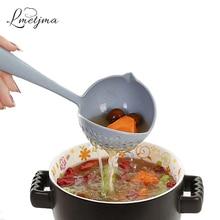 LMETJMA 2 in 1 Soup Spoon Long Handle Spoon Creative Spoon Strainer Spoon Cooking Tools KCBII011802