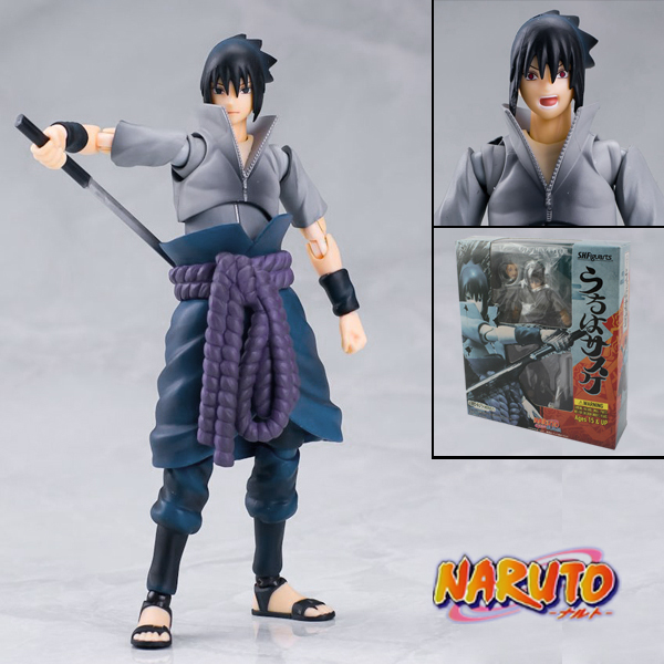 14cm PVC Figma Movable Uchiha Sasuke Action Figure Naruto Shippuuden SHFiguarts Collectible Model Kid TOYS for boys ynynoo naruto sasuke kurama pvc action