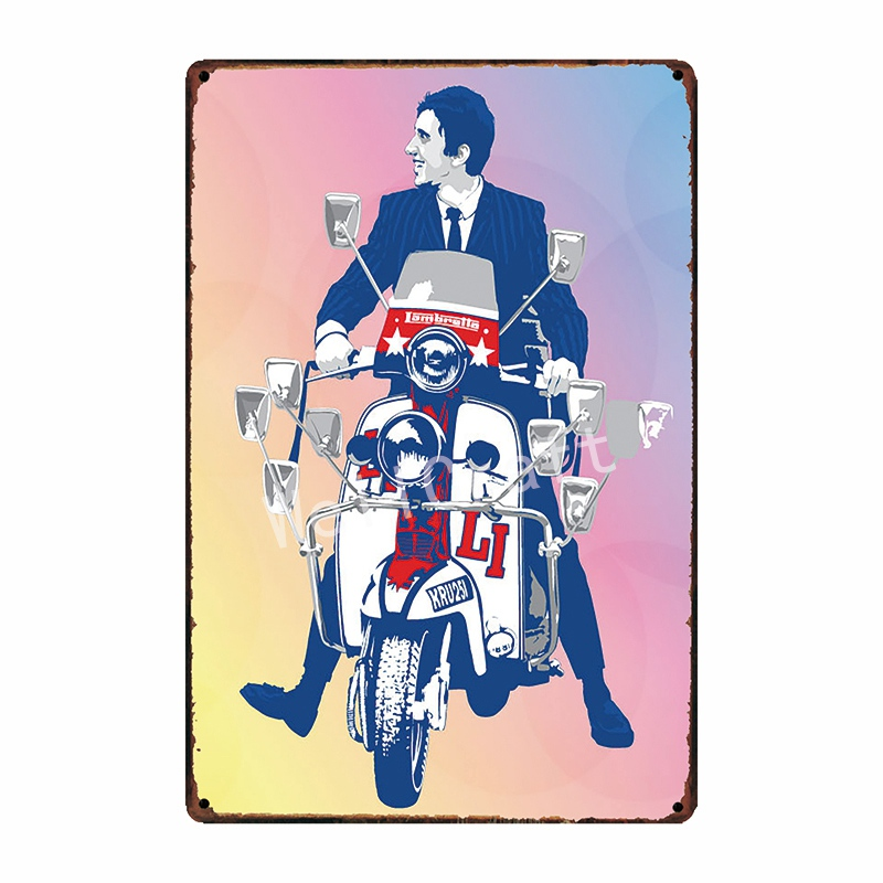[WellCraft] Lambretta Motor Metal Signs Home Hotel Placa de pared - Decoración del hogar - foto 5