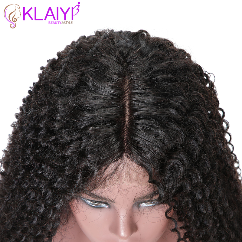 Image 5 - Klaiyi Hair Curly Hair Lace Front Wigs 13*6 Inch Brazilian Remy Hair With Pre Plucked 150% Denisty Human Hair Wig 10'' 24''-in Lace Front Wigs from Hair Extensions & Wigs