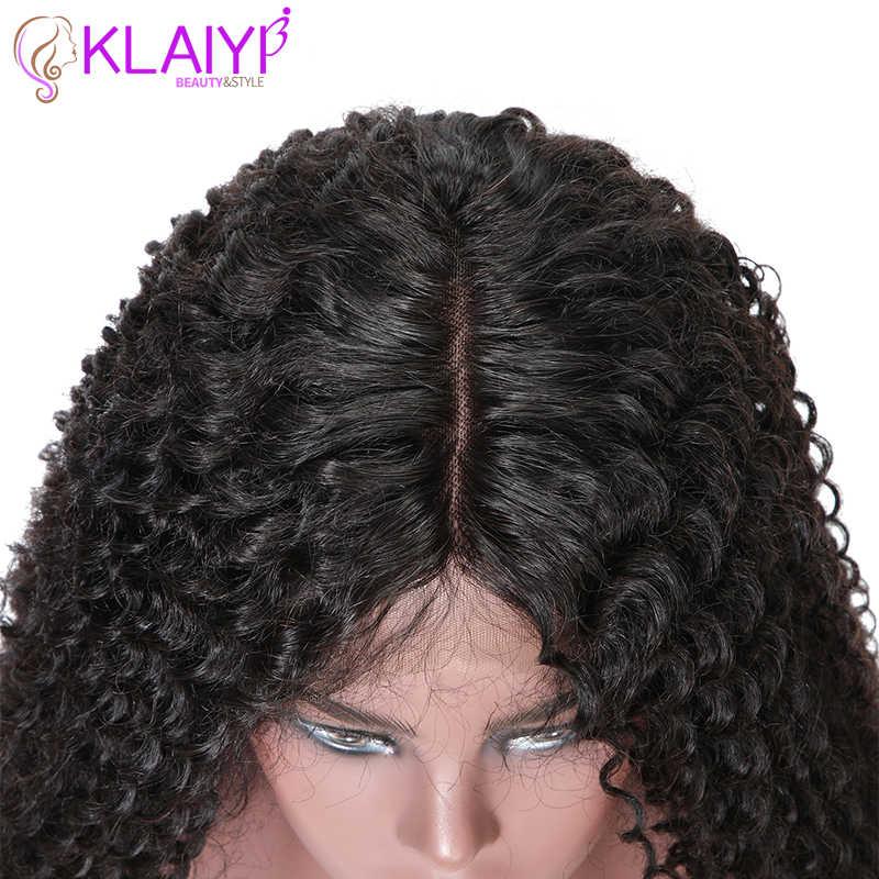 Klaiyi Tóc Xoăn Tóc Ren Mặt Trước Bộ Tóc Giả 13*6 Inch Brasil Remy Tóc Với Tiền Nhổ 150% Denisty tóc Tóc Giả 10 ''-24''