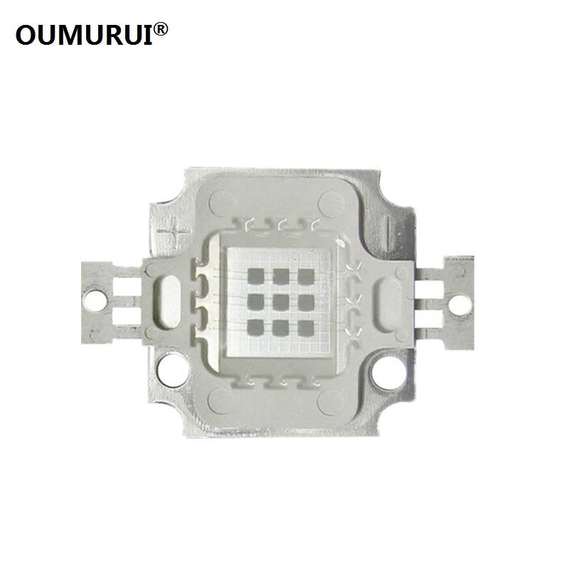 10W UV LED CHIP lámpa halászati LED COB manikűr lila gyöngy 395-400nm 900mA 9.0-11.0V 30-60LM 45mil Taiwang Ingyenes szállítás 10PCS