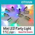 Partido congelado Decoração de Mini Luz CONDUZIDA da Festa do Dia Das Bruxas 11 Cores Disponíveis Para As Lanternas De Papel Balão de Iluminação Central