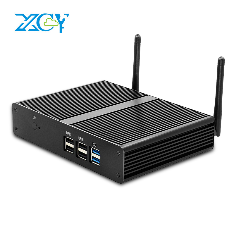 XCY Fanless Mini PC Intel Celeron J1900 J1750 N2810 Windows 10 Dual HDMI Video Output WiFi Minipc Desktops Thin Client HTPC thin client mini itx computer intel celeron n3150 14nm quad core dual hdmi vga 1 rs232 4 usb3 0 300m wifi window 10 mini pc