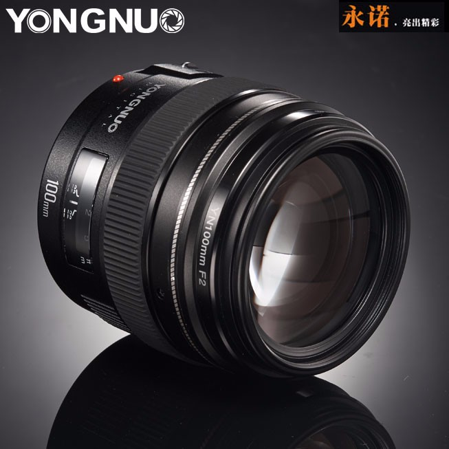 Prix pour YONGNUO YN100mm F2 Moyen Téléobjectif Premier Objectif Grande Ouverture Auto Focus Lens pour Canon EOS Rebel Caméra AF MF