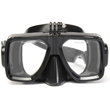 Diving Mount of Scuba Dive and Snorkel Diving Mask Swimming Goggles Tempered glasses for Gopro hero 2 3 3+ 4 sport Action Camera