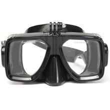 Óculos de mergulho para gopro hero 2 3 3 + 4, óculos de natação, tubo respiratório e snorkel câmera fotográfica para câmera