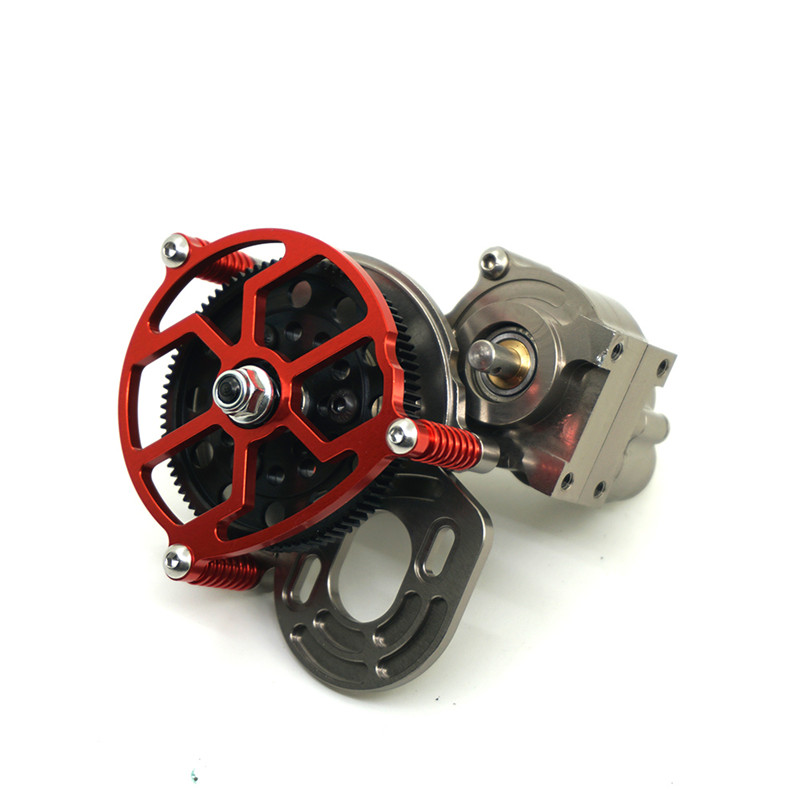 1PC 1/10 RC Crawler SCX10 All Metal Transmission / Center Gearbox for 1/10 Axial SCX10 Gear Box Reverse Parts Red Black 1pc black 1 10 rc crawler scx10 metal aluminum transmission center gearbox for 1 10 axial scx10 gear box