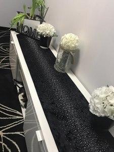 Image 3 - Модная современная настольная дорожка Junwell, двухслойная скатерть с бриллиантами и кисточками