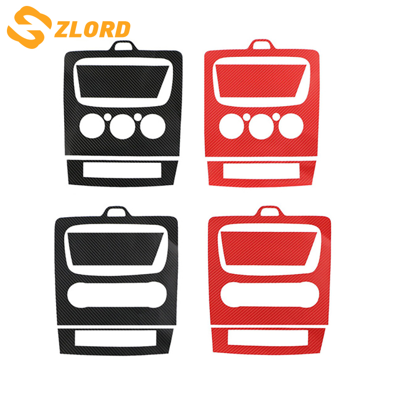 Zlord 3 Colors 3D Carbon Fiber Car AC Console Protector Sticker For Ford Focus 2 2009 2010 2011 2012 2013 Modification