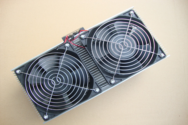 Electronic Refrigerator Air Conditioner Semiconductor Dual Thermoelectric Cooler Suite System Air Cooling Device Heat Exchanger