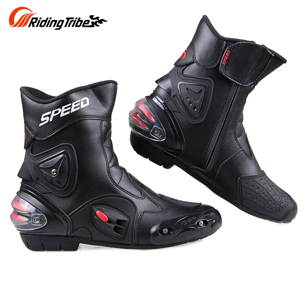 ФОТО Free shipping Ankle joint protection motorcycle boots Pro-Biker SPEED boots for motorcyle Racing Motocross Boots BLACK RED WHITE