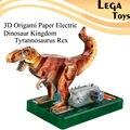 Juguetes Educativos del rompecabezas de Los Modelos de niño chico juguetes de Papel de Origami 3D Eléctrica Reino Dinosaurio Tyrannosaurus Rex kit de arte de Papel