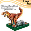 Puzzle Educational toys Models for boy kid toys 3D Origami Paper Electric Dinosaur Kingdom Tyrannosaurus Rex Paper craft kit