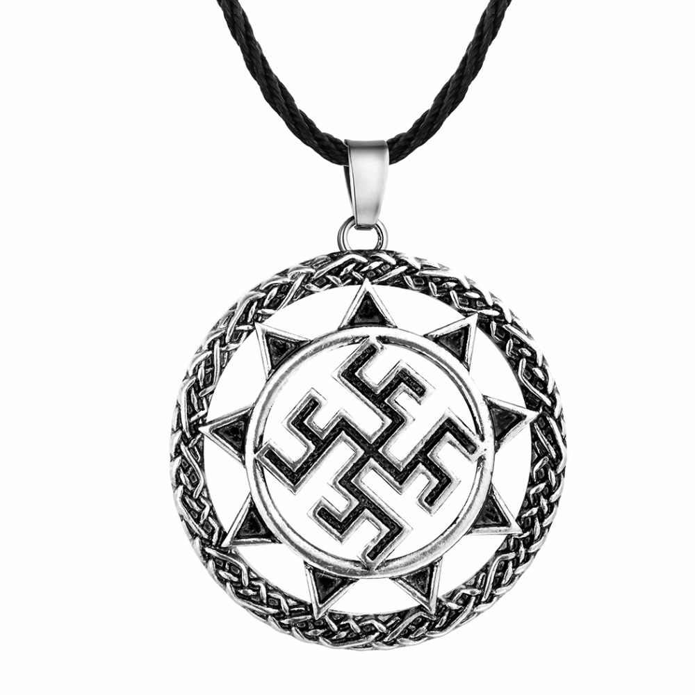 CHENGXUN moda unikalne mężczyźni naszyjnik Symbol słońca wisiorek urok geometryczne czarny łańcuch dobre szczęście biżuteria