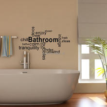 Bathroom Quotes Bathe Enjoy Soak Shower DIY Wall Sticker Bubbles Special Art Vinyl Letter Waterproof Mural Decoration