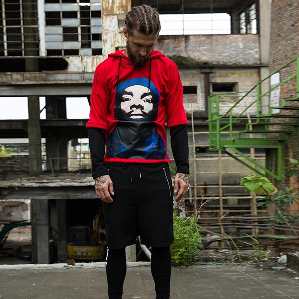 Men Punk Rock Hip Hop Shorts Ribbons Hiphop Cargo Shorts Mens Black Casual Street Wear Elastic Short Pants With Many Pockets
