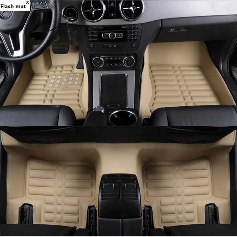 Flash tapis de voiture tapis de sol pour Nissan D22 GT-R fuga Quête GENISS Qashqai Note Murano Mars Teana Tiida Almera X -trai LANNIA tapis