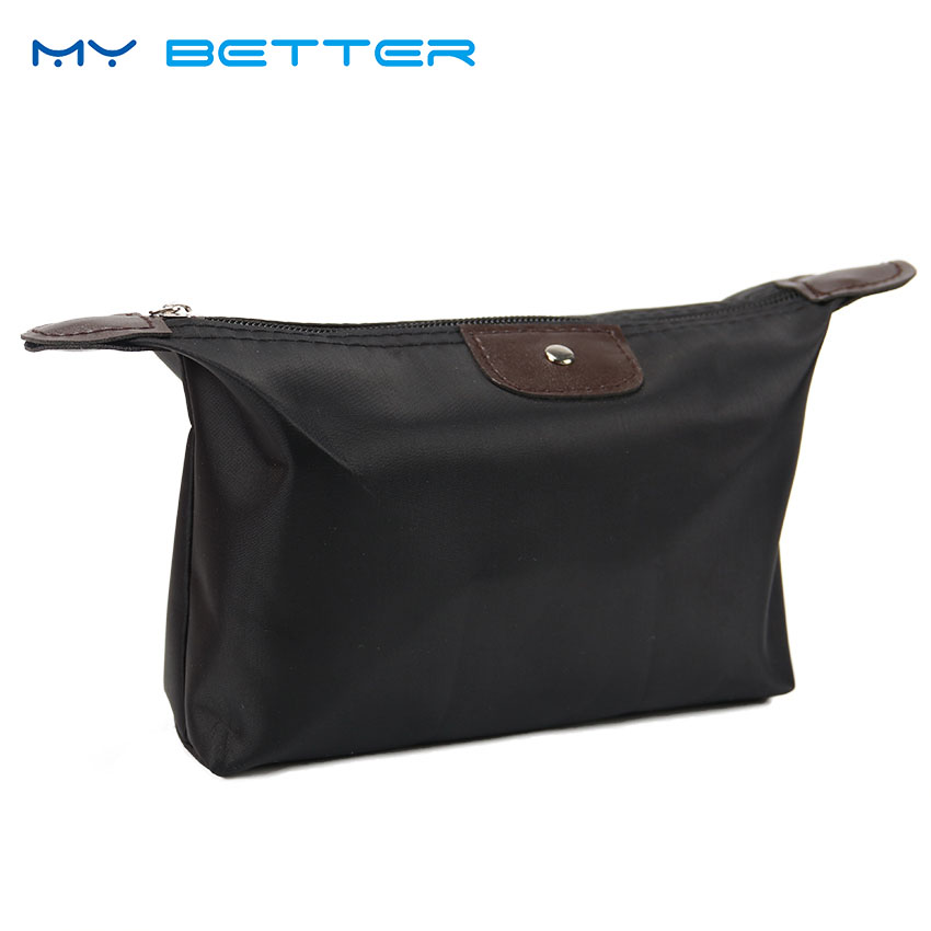 Makeup-Bag Handbag Toiletry-Storage Dumpling Cosmetic Multifunctional Casual Solid