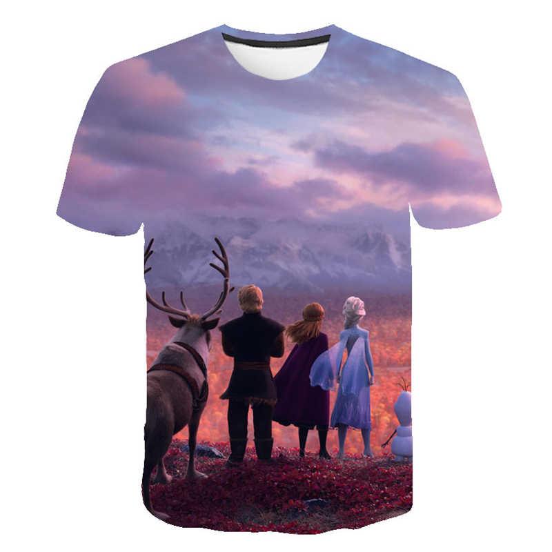 0531c672c9ed ... Frozen 2 Fashion Cool T-Shirt Men's & Women's Clothes Round Collar 3D  Print Short ...